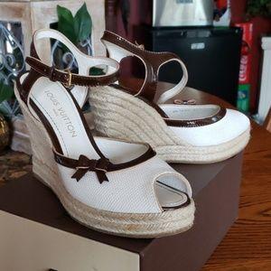 66b5c6c94c20 Women s Louis Vuitton Wedge Sandals on Poshmark